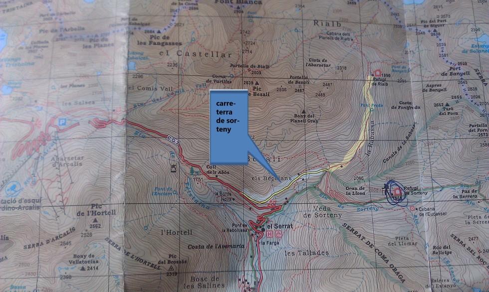 Mapa Refugio Rialb