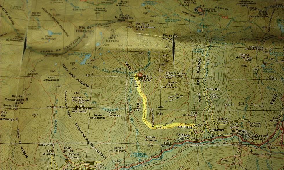 Mapa de acceso Refugio Vall de Riu