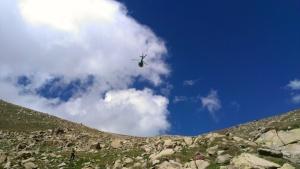 Jaume Homs con Helicoptero hacia Bordes antes de Pessons