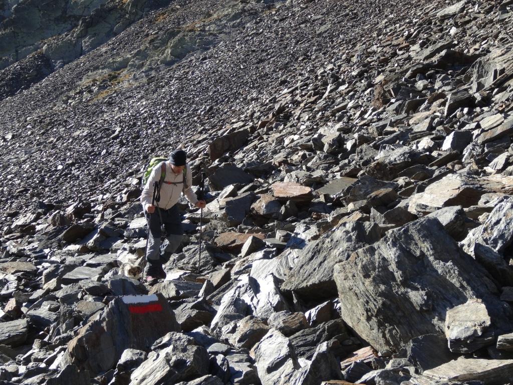 Sendero de piedra hacia el collado dels estanys forcats