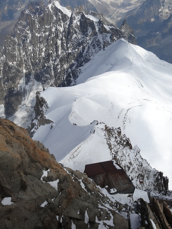 Aiguille du Midi Vistas con Cordada