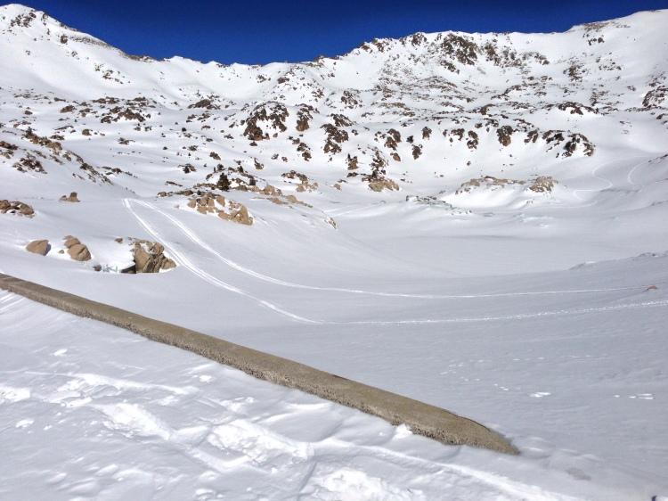 Estany de l'Illa completamente nevat