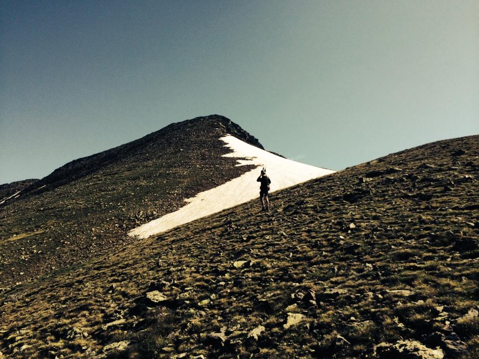 La arista que nos lleva a la Cima del Pico de Font Blanca