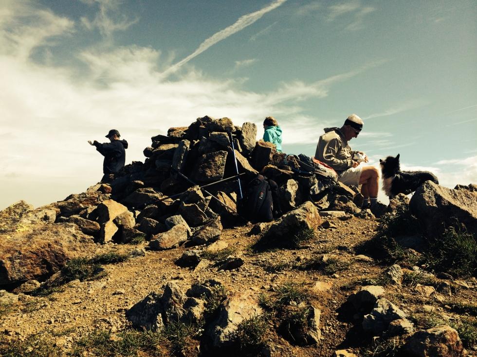 En la Cima del Pico de la Font Blanca