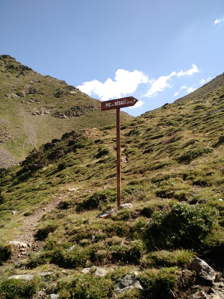 Este cartel lo encontramos bajando de Besalí, li lo veís antes de llegar a la Font Blanca, rápido a la izquierda!
