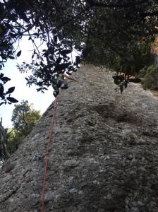 El Faraó de Abaix escalada deportiva el Bruc